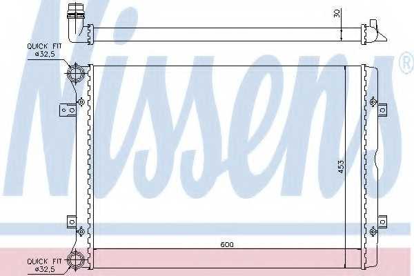 Радиатор охлаждения двигателя NISSENS 65014 - изображение