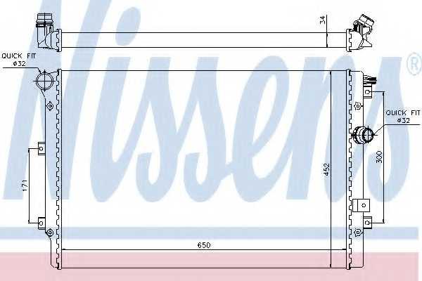 Радиатор охлаждения двигателя NISSENS 65015 - изображение