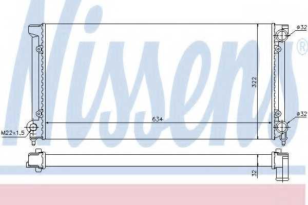 Радиатор охлаждения двигателя NISSENS 651611 - изображение