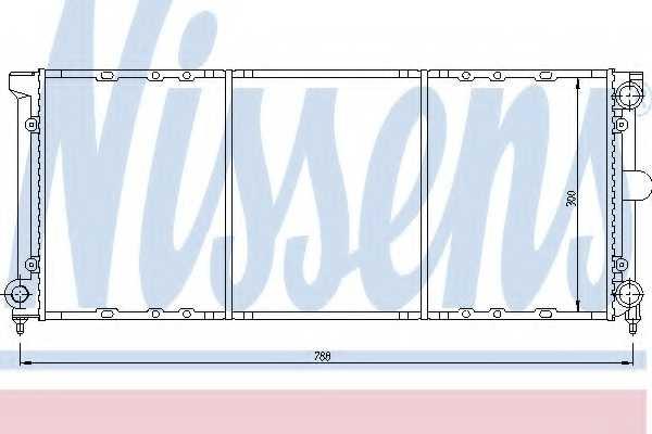 Радиатор охлаждения двигателя NISSENS 651621 - изображение