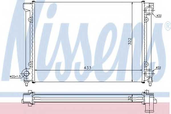 Радиатор охлаждения двигателя NISSENS 651651 - изображение
