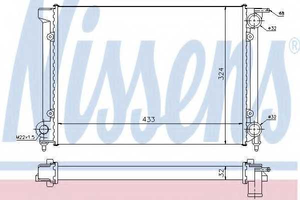 Радиатор охлаждения двигателя NISSENS 651811 - изображение