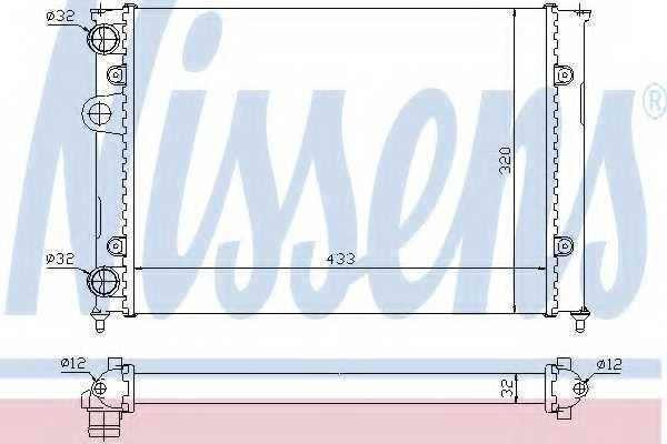Радиатор охлаждения двигателя NISSENS 651851 - изображение