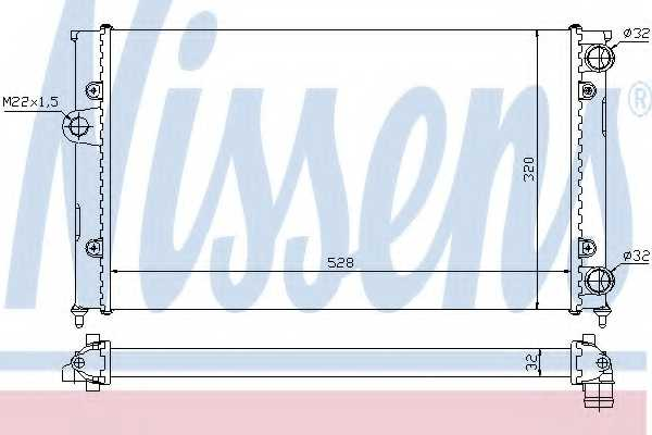 Радиатор охлаждения двигателя NISSENS 651941 - изображение