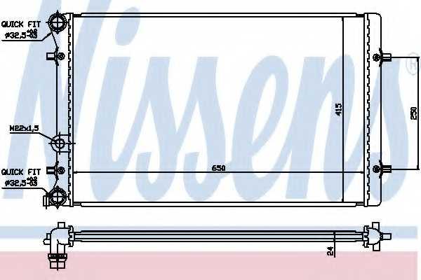 Радиатор охлаждения двигателя NISSENS 652011 - изображение