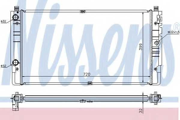 Радиатор охлаждения двигателя NISSENS 65238A - изображение