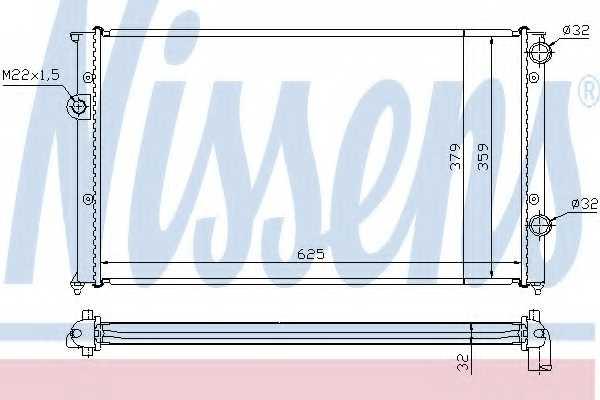 Радиатор охлаждения двигателя NISSENS 65243 - изображение