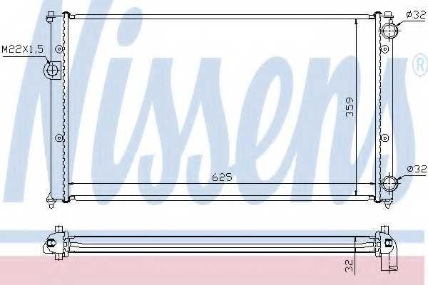 Радиатор охлаждения двигателя NISSENS 652441 - изображение