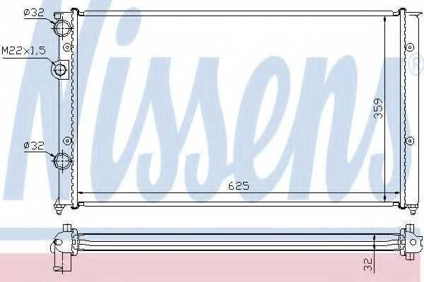 Радиатор охлаждения двигателя NISSENS 652451 - изображение
