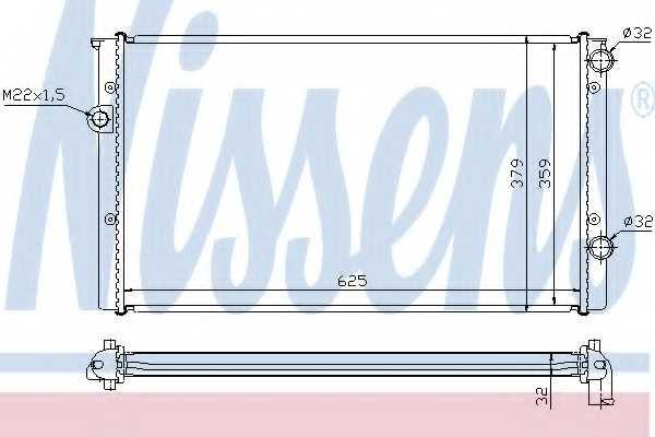 Радиатор охлаждения двигателя NISSENS 652461 - изображение