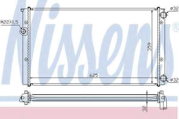 Радиатор охлаждения двигателя NISSENS 652471 - изображение