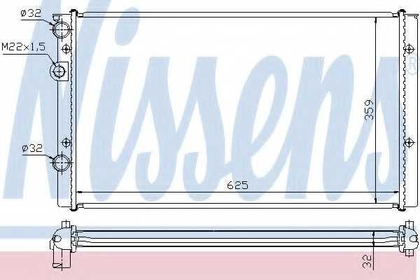 Радиатор охлаждения двигателя NISSENS 65248 - изображение