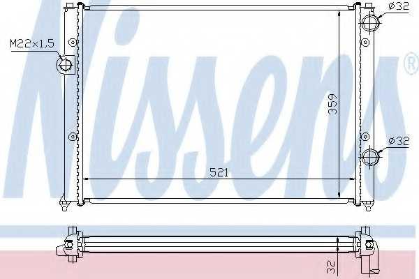 Радиатор охлаждения двигателя NISSENS 652511 - изображение