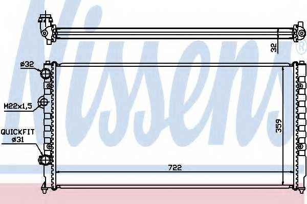 Радиатор охлаждения двигателя NISSENS 65252 - изображение
