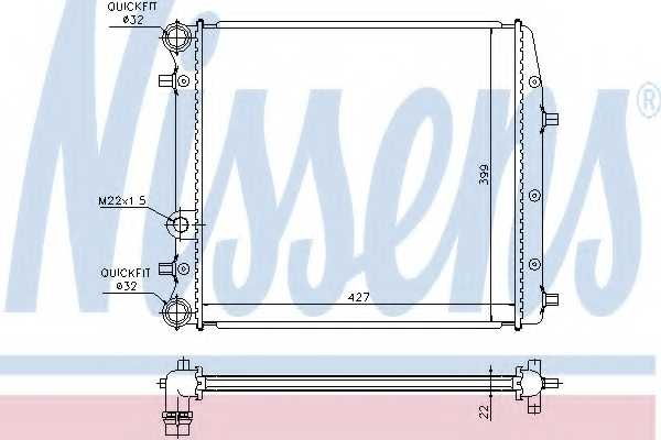 Радиатор охлаждения двигателя NISSENS 652691 - изображение