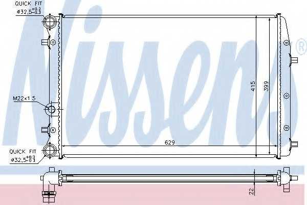 Радиатор охлаждения двигателя NISSENS 652711 - изображение