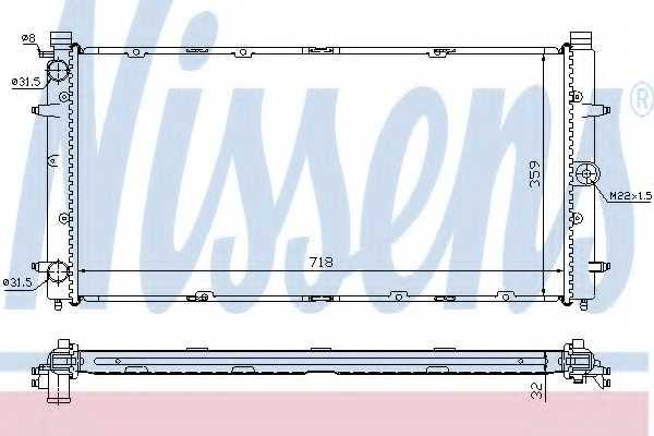 Радиатор охлаждения двигателя NISSENS 65273A - изображение