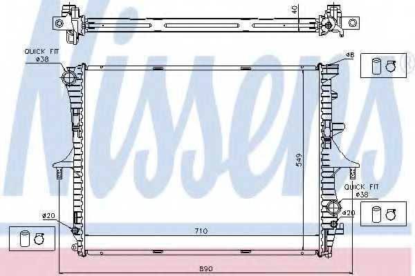 Радиатор охлаждения двигателя NISSENS 65276A - изображение