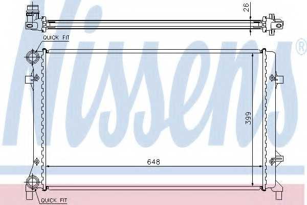 Радиатор охлаждения двигателя NISSENS 65277 - изображение