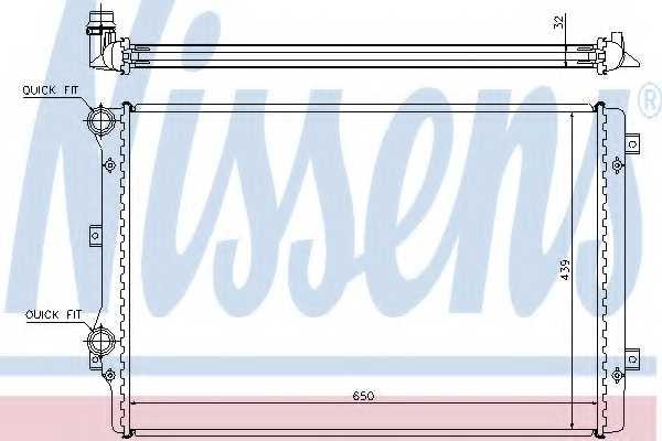 Радиатор охлаждения двигателя NISSENS 65279A - изображение