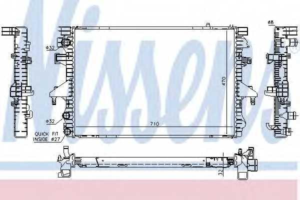 Радиатор охлаждения двигателя NISSENS 65282A - изображение