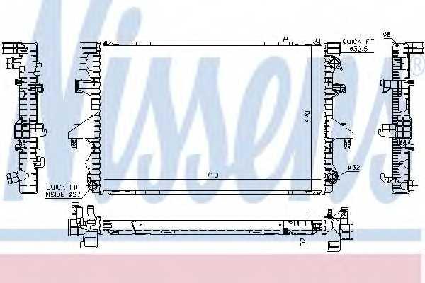 Радиатор охлаждения двигателя NISSENS 65283A - изображение