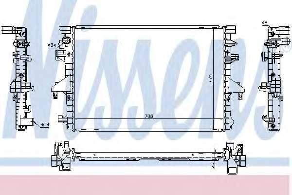 Радиатор охлаждения двигателя NISSENS 65285 - изображение