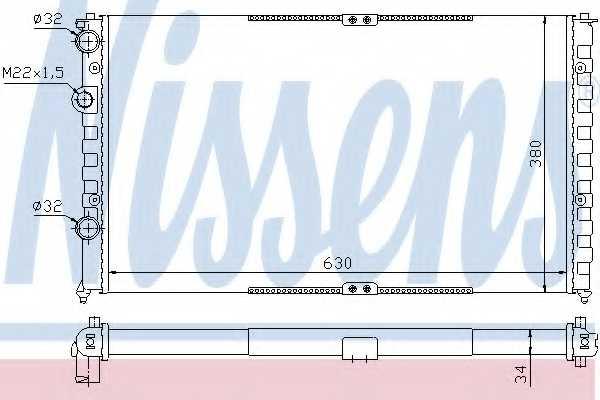 Радиатор охлаждения двигателя NISSENS 65290 - изображение