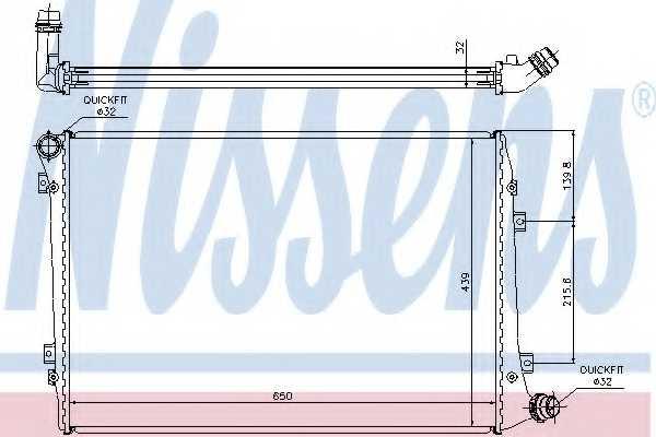 Радиатор охлаждения двигателя NISSENS 65291A - изображение