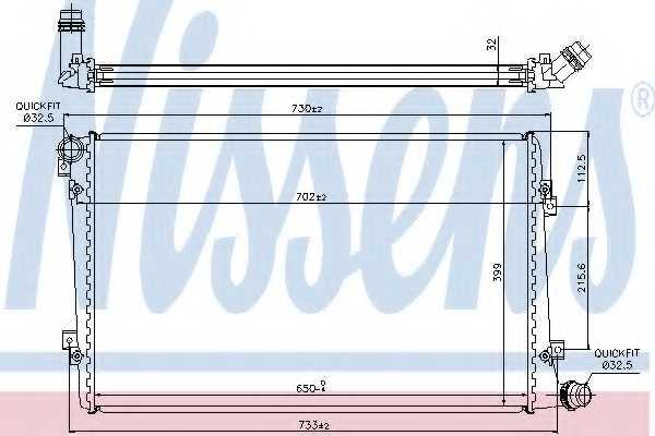 Радиатор охлаждения двигателя NISSENS 65292 - изображение