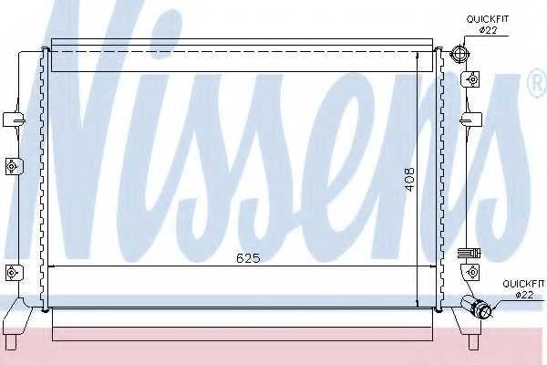 Радиатор охлаждения двигателя NISSENS 65294 - изображение
