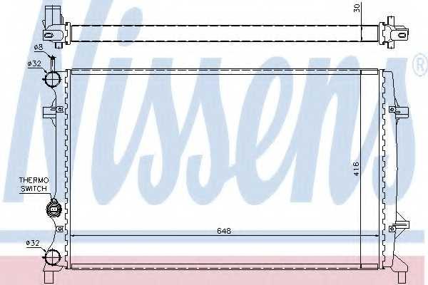 Радиатор охлаждения двигателя NISSENS 65296 - изображение