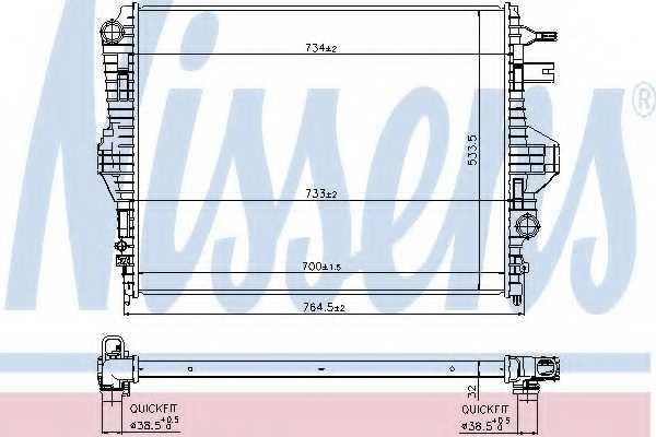 Радиатор охлаждения двигателя NISSENS 65297 - изображение