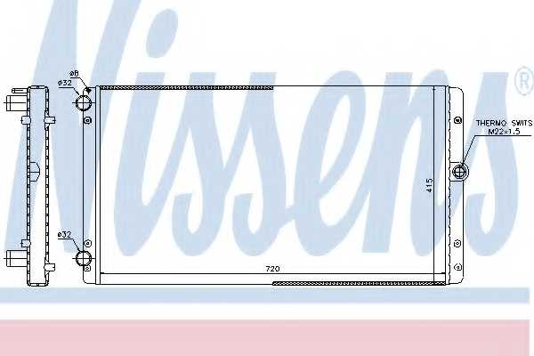 Радиатор охлаждения двигателя NISSENS 65301 - изображение