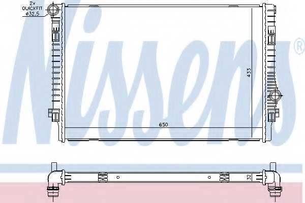 Радиатор охлаждения двигателя NISSENS 65302 - изображение