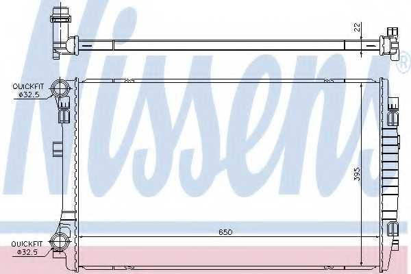 Радиатор охлаждения двигателя NISSENS 65303 - изображение