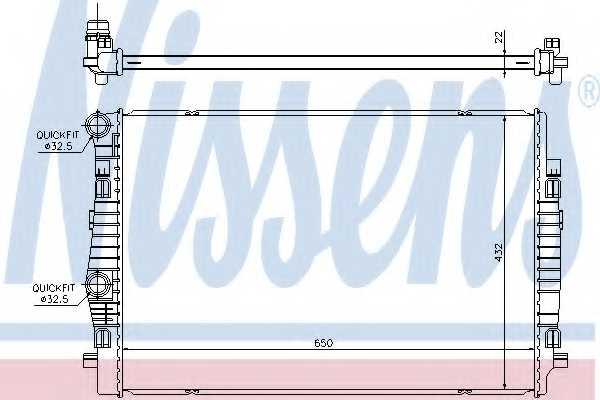 Радиатор охлаждения двигателя NISSENS 65304 - изображение