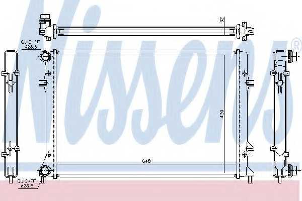 Радиатор охлаждения двигателя NISSENS 65307 - изображение