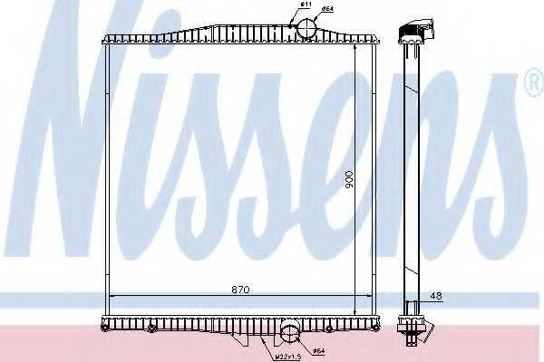 Радиатор охлаждения двигателя NISSENS 654620 - изображение