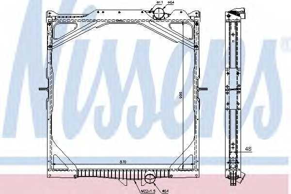 Радиатор охлаждения двигателя NISSENS 65462A - изображение