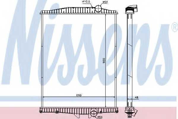 Радиатор охлаждения двигателя NISSENS 654630 - изображение