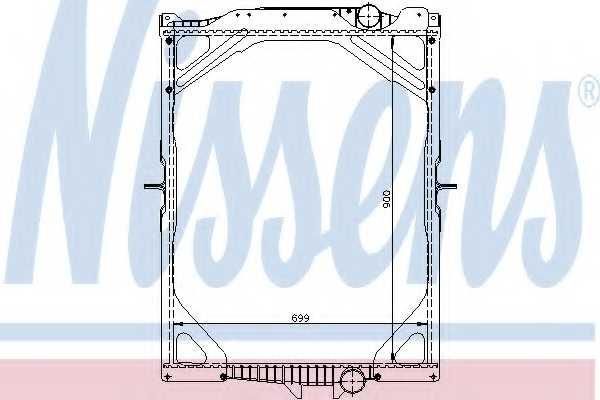 Радиатор охлаждения двигателя NISSENS 65463A - изображение