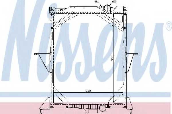Радиатор охлаждения двигателя NISSENS 65466A - изображение