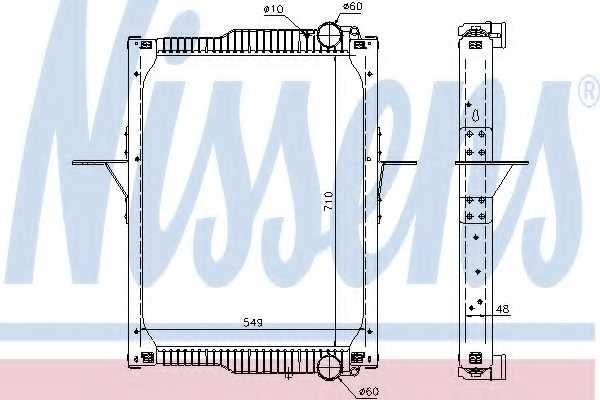Радиатор охлаждения двигателя NISSENS 65475 - изображение