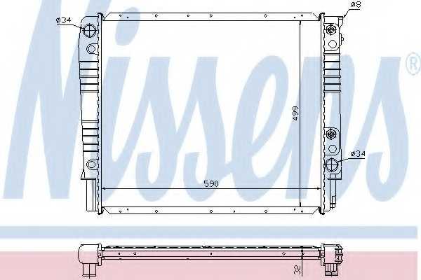 Радиатор охлаждения двигателя NISSENS 65530A - изображение