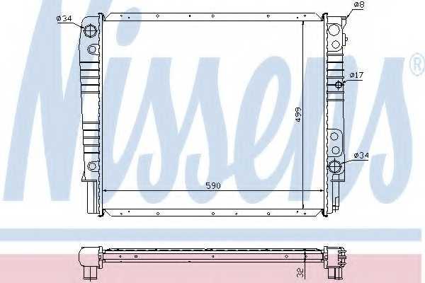 Радиатор охлаждения двигателя NISSENS 65531A - изображение