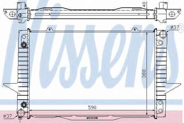 Радиатор охлаждения двигателя NISSENS 65535A - изображение