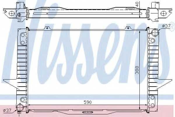 Радиатор охлаждения двигателя NISSENS 65536A - изображение