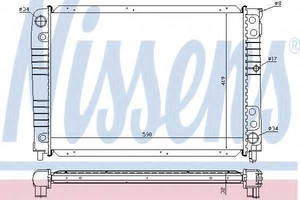 Радиатор охлаждения двигателя NISSENS 65537A - изображение
