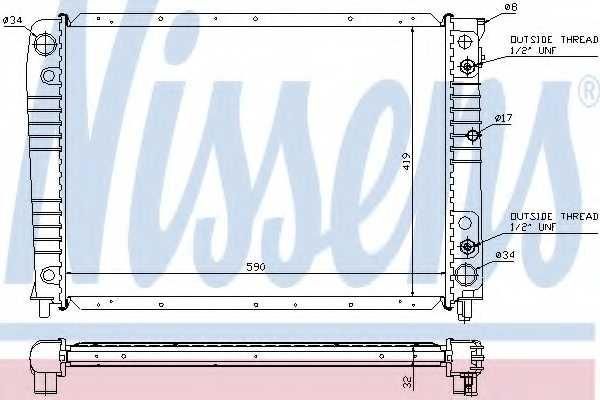 Радиатор охлаждения двигателя NISSENS 65538A - изображение